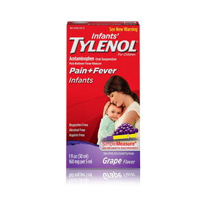 Infants' Tylenol Acetaminophen Liquid Medicine, Grape