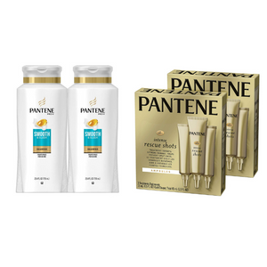2 Bottles Of Pantene Shampoo And Rescue Shots On Sale
