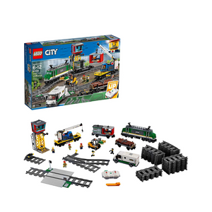 LEGO City Cargo Train Remote Control Train Building Set with Tracks (1226 Pieces)