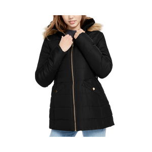 Women's Faux-Fur Trim Hooded Puffer Coat (3 Colors)