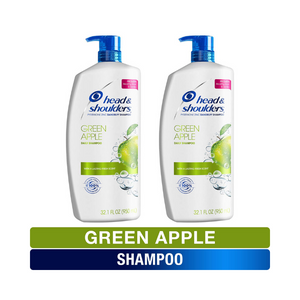 2 Big Bottles Of Head and Shoulders Green Apple Shampoo