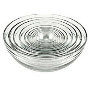 10-Piece Anchor Hocking Tempered Glass Mixing Bowl Set