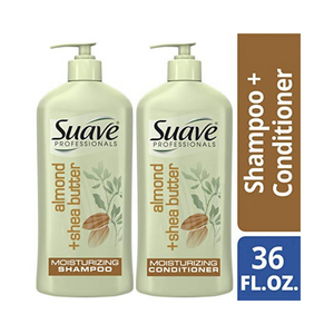 2 Bottle Set Of Suave Professionals Almond + Shea Butter Shampoo And Conditioner