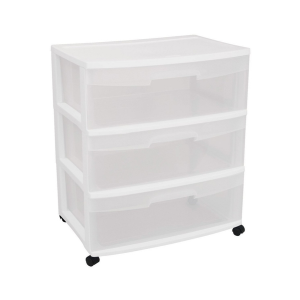 Sterilite Wide 3 Drawer Cart