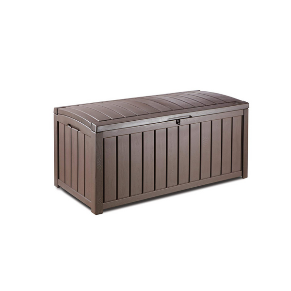 101 Gal. Keter Glenwood Plastic Outdoor Storage Box (Brown)