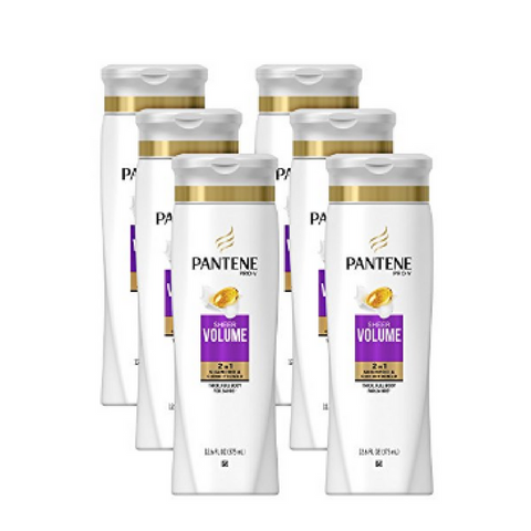6 bottles of Pantene Pro-V Sheer Volume 2 in 1 Shampoo & Conditioner