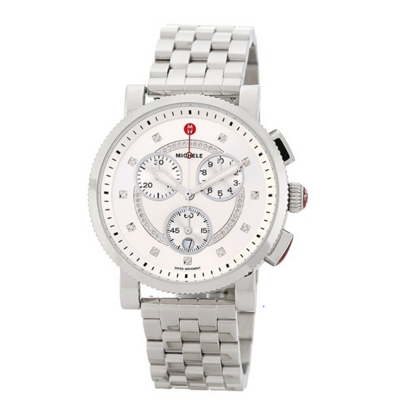 Michele Sport Diamond Bracelet Watch