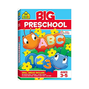 School Zone: Big Preschool Workbook (Ages 3-5, Paperback)