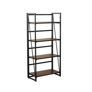 4-Tier Fither Metal & Wood Industrial Bookshelf