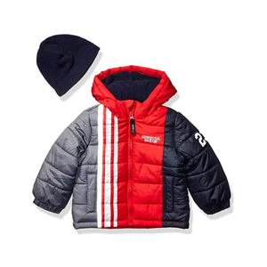 London Fog Boys' Toddler Puffer Coat With Hat