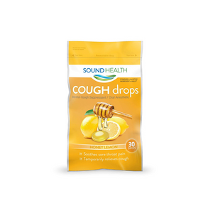 30 SoundHealth Honey Lemon Cough Drops Lozenge Cough Suppressants