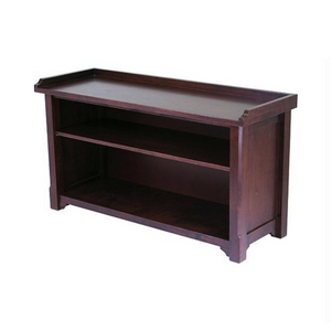 Winsome Wood Milan Storage Hall Bench in Walnut Finish