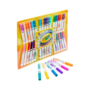 Crayola Marker Madness 34 Broad Line, Scented, And Neon Markers Art Set