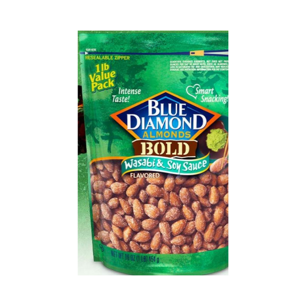 16-oz Blue Diamond Almonds: Bold Wasabi & Soy Sauce