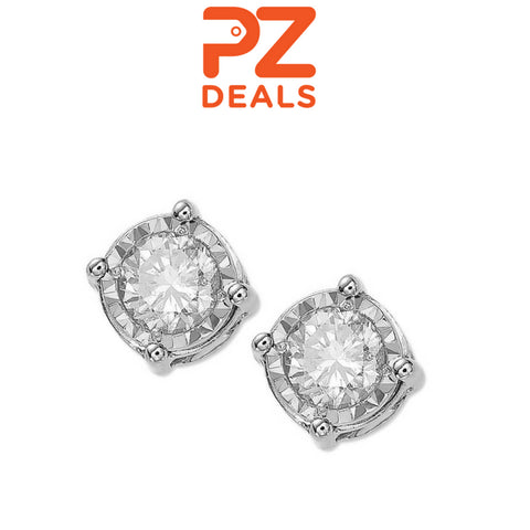 70% off Diamond Stud Earrings in 14k White Gold, Rose Gold or Gold