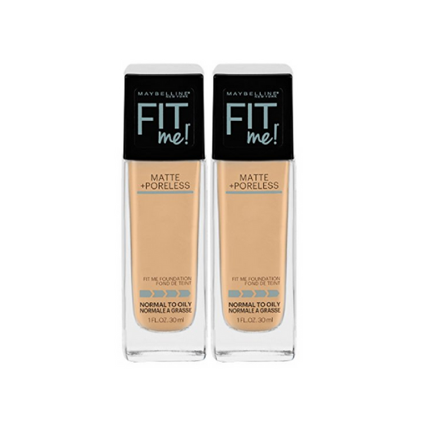 2 Maybelline New York Fit Me Matte + Poreless Liquid Foundation Makeup