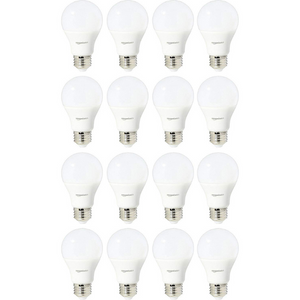 16 AmazonBasics 40 Watt Equivalent, Daylight, Dimmable LED Bulbs