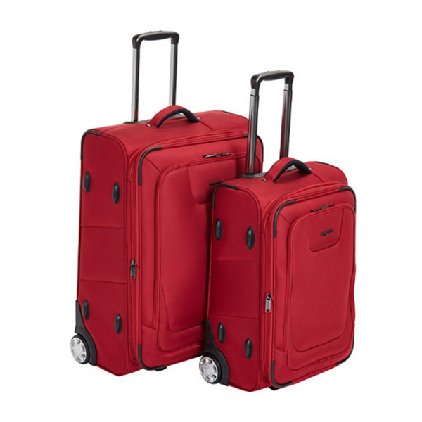 AmazonBasics Premium Upright Expandable Softside 2 Piece Luggage Set with TSA Lock