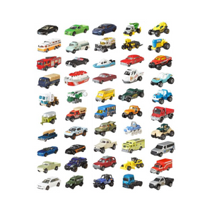 Matchbox Classic 50-Pack Realistic Vehicles Set