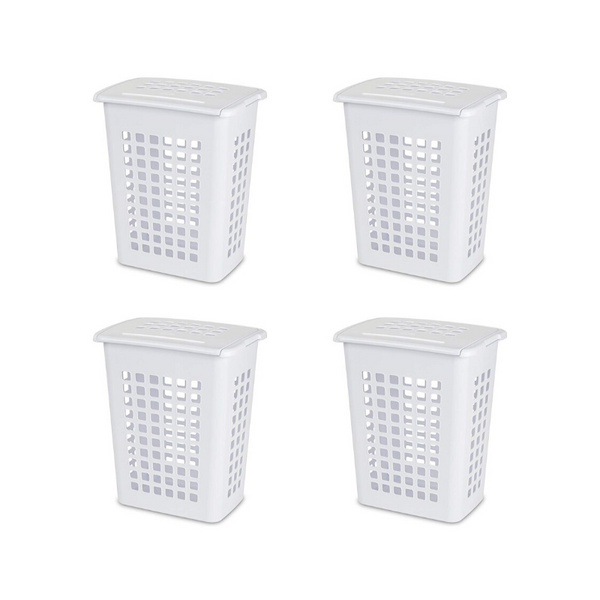4 Sterilite Rectangular LiftTop Laundry Hampers