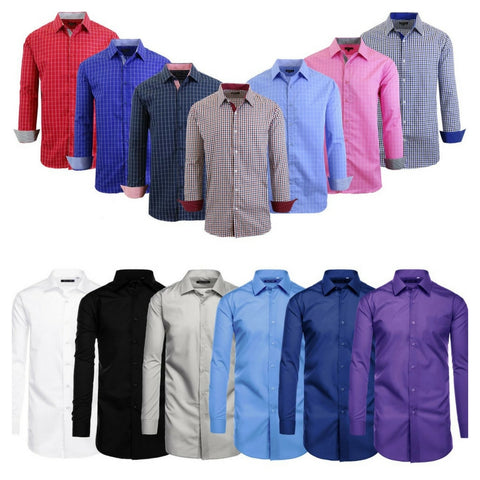 Men's casual, classic and slim fit dress shirts