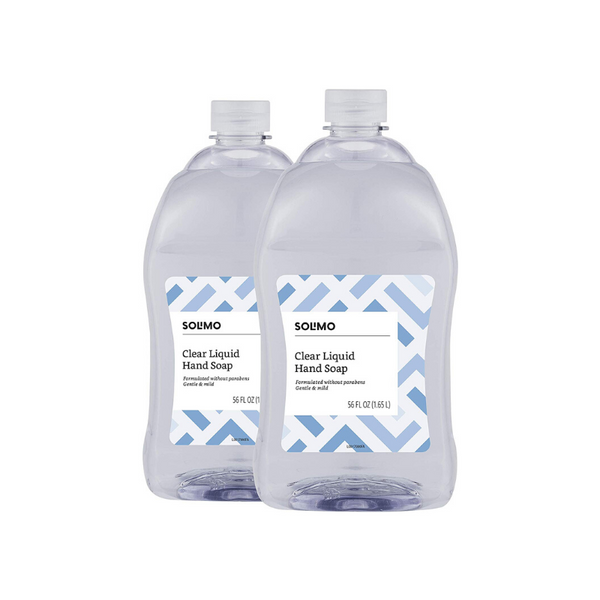 2 Bottles Of Solimo Gentle Amp Mild Clear Liquid Hand Soap