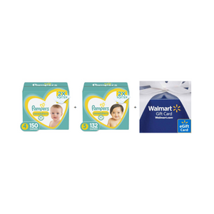 Buy 2 Boxes of Pampers Diapers And Get A $20 Walmart Gift Card