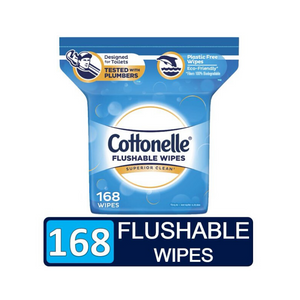 168 Cottonelle FreshCare Flushable Wipes