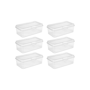 6 Sterilite Large Flip Top Containers