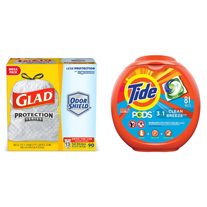 Huge Savings On Trash Bags And Laundry Detergents