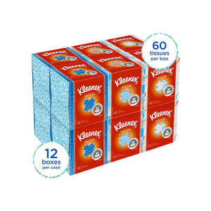 12 Cubed Boxes of Kleenex Anti Viral Facial Tissues