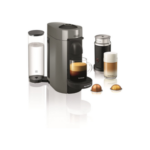 Nespresso VertuoPlus Coffee And Espresso Machine Bundle With Aeroccino Milk Frother And 12 Pods