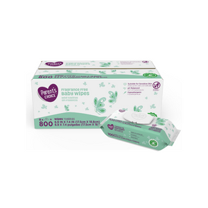500, 800 Or 1,200 Parent's Choice Fragrance Free Baby Wipes On Sale