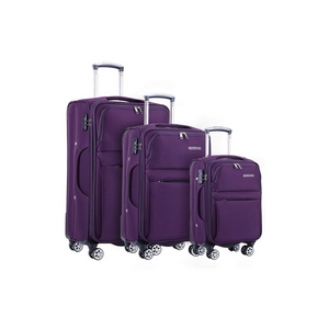 Softside 3 Piece Suitcase with Buit-In TSA Lock (3 Colors)