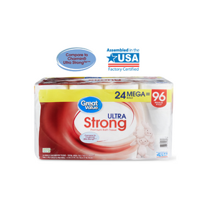 Great Value Ultra Strong Toilet Paper On Sale
