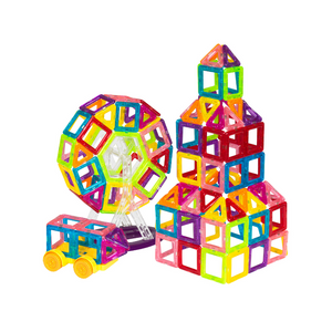158-Piece Magnetic Building Block Tiles