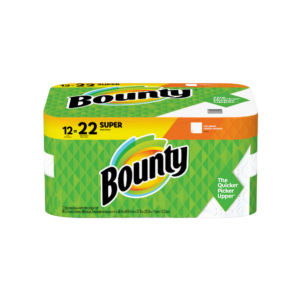 22 Regular Rolls Of Bounty Paper Towels