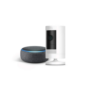 Ring Stick Up Cam With Echo Dot
