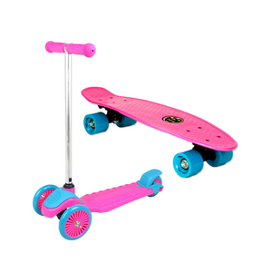 Mini Sharkman Scooter and Skateboard Combo Set