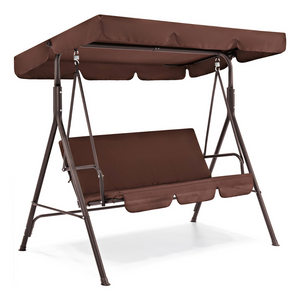 2-Person Outdoor Large Convertible Canopy Swing