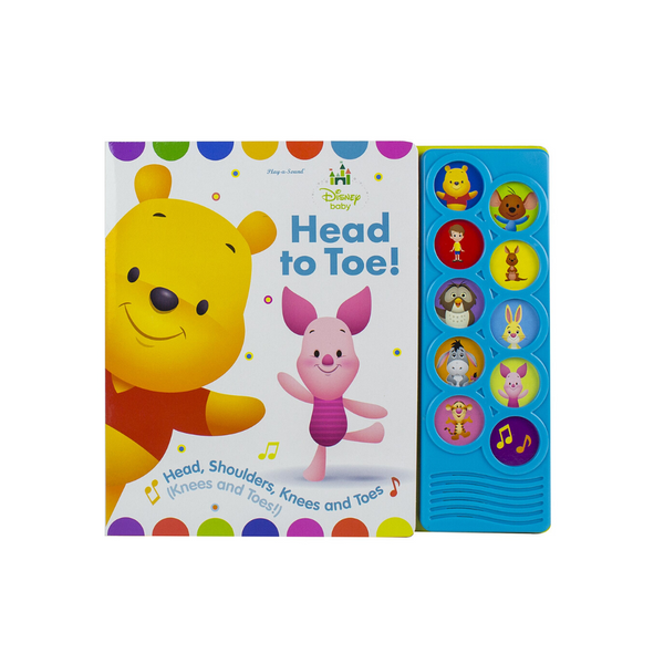 Disney Baby Winnie the Pooh - Head to Toe! 10-Button Sound Book
