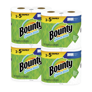 8 Family (20 Regular) Rolls Of Bounty Quick-Size Paper Towels