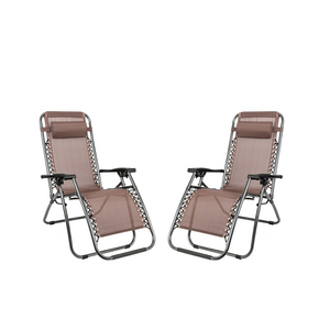 Set of 2 Zero Gravity Lounge Chair Recliners (3 Colors)