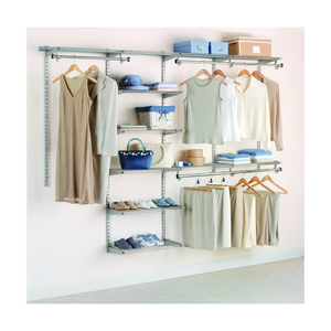 Rubbermaid Deluxe Custom Closet Organizer System Kit