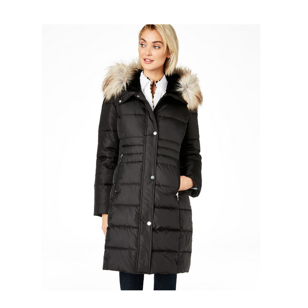 Calvin Klein Faux-Fur Hooded Puffer Coat (4 Colors)