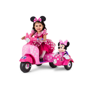 Minnie Mouse Happy Helpers Scooter with Sidecar Ride-On