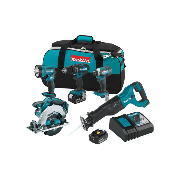 Makita 18V LXT Lithium-Ion Cordless 5-Pc. Combo Kit