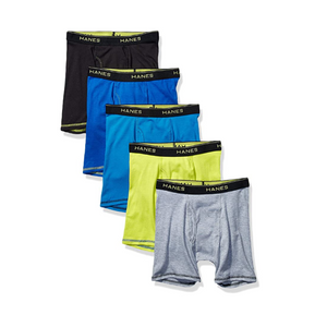 Hanes Boys' Lightweight Mesh Boxer Briefs 5-Pack