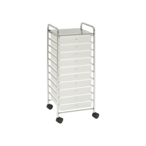 Seville Classics Large 10-Drawer Multipurpose Mobile Rolling Utility Storage Organizer Cart