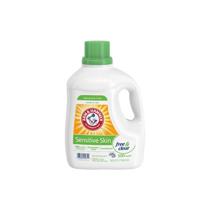 3 Bottles Of 150oz Arm And Hammer Sensitive Skin Free And Clear Liquid Laundry Detergent